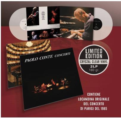 PAOLO CONTE CONCERTI Esce domani, venerdì 2 ottobre, in doppio vinile da collezione e in edizione limitata Crystal Clear Vinyl il primo leggendario album dal vivo dell'artista