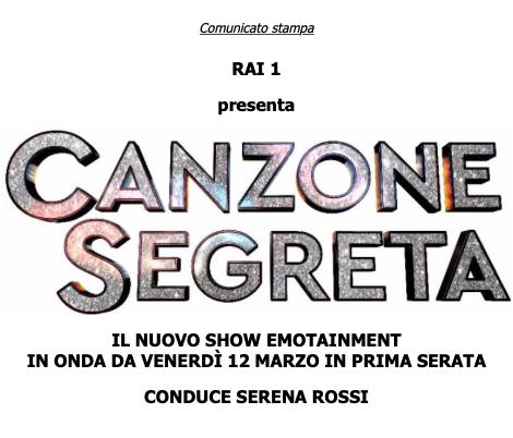 Rai1 presenta CANZONE SEGRETA