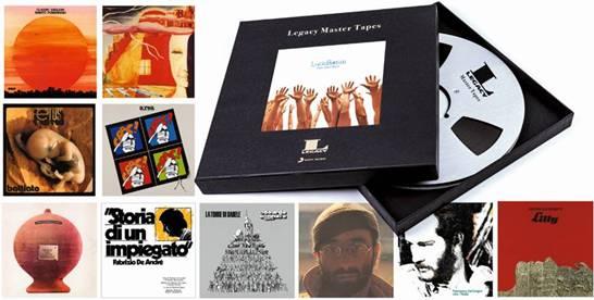 LEGACY MASTER TAPES   Sony Music apre i suoi straordinari archivi musicali!   PER LA PRIMA VOLTA DISPONIBILI I MASTER ORIGINALI DELLE OPERE CHE HANNO FATTO LA STORIA DELLA MUSICA ITALIANA
