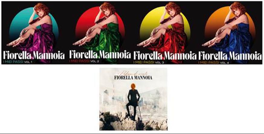"""FIORELLA MANNOIA """"I MIEI PASSI""""   DAL 27 APRILE UN'ANTOLOGIA DA COLLEZIONE IN 5 VOLUMI PER RIPERCORRERE LA STRAORDINARIA CARRIERA DELL'ARTISTA"""